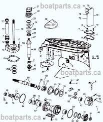 Omc Stern Drive Propeller Chart Omc Cobra Prop Shaft Parts Drawing Lower Unit