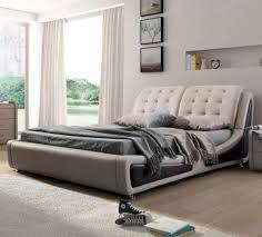High End Modern Platform Bed Frame For Lavish Bedroom Ideas With