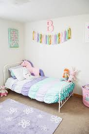 bedroom ideas for girls. Delighful Girls Use Pastel Colors To Create A Fun And Whimsical Vibe Like This Room The  Unicorn Moon Stuffed Animals Complete The For Bedroom Ideas Girls