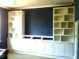 Media Wall Cabinet Built In Mounted Diy I94