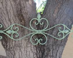 more colors fleur de lis metal wall decor  on metal wall art shabby chic with sage green wall art etsy