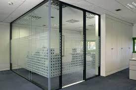 glass office divider door design mandir for home s glass door etched design