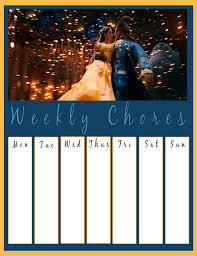 Printable Beauty And The Beast Chore Chart