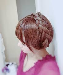 五阿弥ルナ On Twitter 髪が伸びて自分の髪でこのヘアスタイル出来る