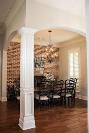 Plan 56399SM: 4 Bed Acadian House Plan with Bonus Room. Exposed Brick  KitchenBrick Wall ...