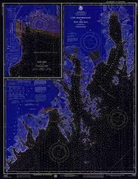 Resurrection Bay Chart Amazon Com Vintography Blueprint Style 8 X 12 Reprint Of