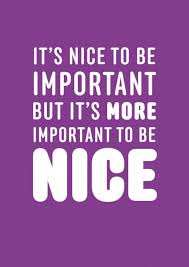 Be Nice Quotes Extraordinary It's Nice To Be Important But It's More Important To Be Nice