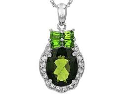 green chrome diopside silver pendant with chain 2 38ctw noh173 jtv com