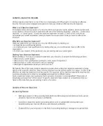 Resume With Objectives Resume Sample Objectives Samples Of