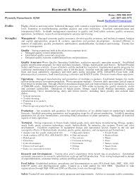 Food Quality Manager Sample Resume Food Safety Coordinator Resume Dadajius 12
