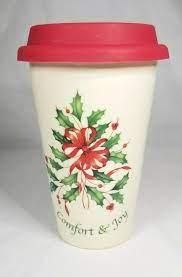 Continental dining platinum 14 oz. Lenox Comfort Joy Ceramic Thermal Travel Mug Cup Silicone 12oz Lid 842898 Lenox