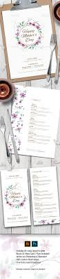 Mother S Day Menu Template Mothers Day Menu Template Photoshop Psd Mothers Day Menu