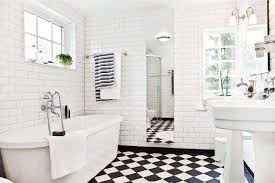 Bathroom White Tiled Bathroom Inspiration Ideas Designs Black And