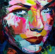 oil painting canvens wall abstract portrait nielly francoise custom hand painted
