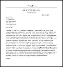 Cover Letter Experienced Teacher Sample Adriangatton Com