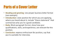 Salutation In A Cover Letter Cover Letter Closing Salutation