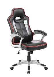 Black, White & Red Racing Office Chair
