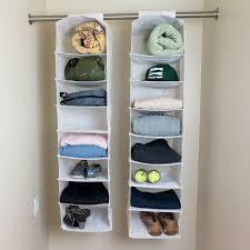 hanging closet organizer. Exellent Hanging Evelots Set Of 2  8 Shelf Hanging Closet Organizers White For Organizer