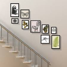 picture frames on staircase wall. Retro Photo Frame European Style Collage Frames Stair Wall Set Combination Wood Family Picture On Staircase