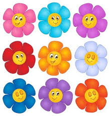 picture of cartoon flowers. Plain Cartoon Flower Theme Image 4  Vector Illustration And Picture Of Cartoon Flowers I