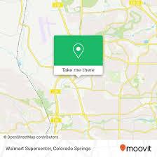 Walmart Colorado Springs How To Get To Walmart Supercenter In Colorado Springs By Bus