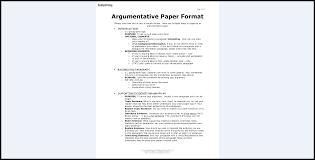 Argumentative Essay Format Example Topics That Work