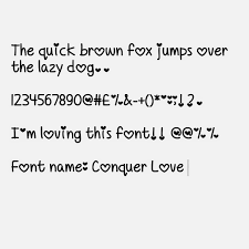 Cute Fonts For Android My Cute Fonts Conquer Love Font Android Only Fonts I