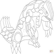 Pokemon Coloring Pages Groudon Legendary Coloringstar