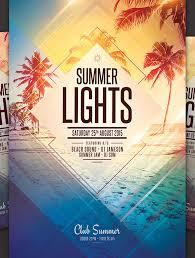 Party Templates Summer Flyer Design 20 Amazing Psd Beach Party Flyer Templates Beach