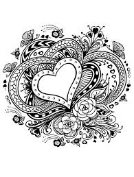 Valentines Day Coloring Pages For Adults Printable Coloring Page