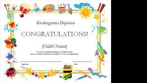 Free Printable Editable Certificates Custom Kindergarten Diploma Certificate