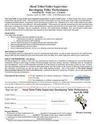 resume examples for bank teller supervisor template with teller manager  resume - Teller Supervisor Resume