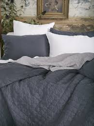 our ida quilted linen provides both warmth and decoration it is constructed using two layers of our vintage linen along with a special batting and a unique