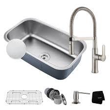 kraus standart pro 30in 16 gauge undermount single bowl stainless steel kitchen sink khu100 30 the home depot