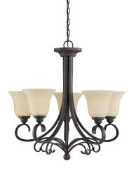 sea gull lighting del prato 5 light chandelier in chestnut bronze