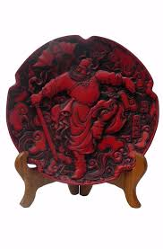 <b>Chinese Red</b> Lacquer <b>Lucky</b> Feng Shui Zung Kwai Ghost Buster ...