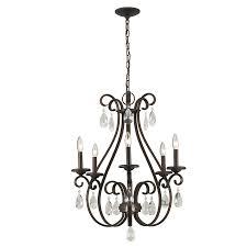 portfolio marimay 24 45 in 5 light dark bronze vintage crystal candle chandelier