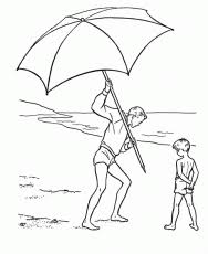 Small Picture Beach Umbrella Coloring Page Coloring Home
