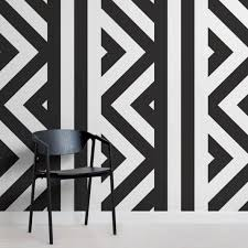 black and white wallpaper geometric pattern. Beautiful Black Mina ZigZag Black And White Wall Mural On And Wallpaper Geometric Pattern T
