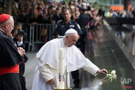 Image result for pope francis 9/22 memorial
