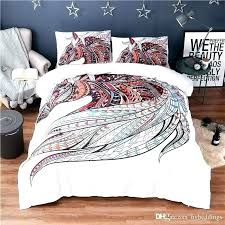 queen duvet size colorful hor printing abstract bedding t white cover double king measurements canada
