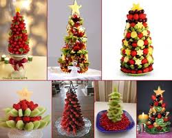 fruit christmas tree. Contemporary Christmas Fruits Christmas Trees From Strawberries Grapes Kiwi Melon Throughout Fruit Tree E