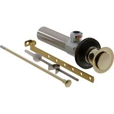 delta bathroom faucet drain assembly in polished brass