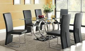 round glass dining room table chairs gorgeous black and quality 9