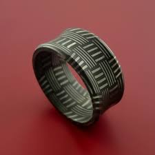 Damascus Steel Patterns Simple Damascus Steel Ring Basket Weave Pattern Wedding Band Stonebrook
