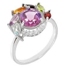 <b>Кольцо</b> Balex Jewellery из серебра с аметистом, <b>топазом</b> ...