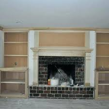 fireplace with shelves fireplace mantel with shelves on side