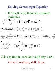 7 solving schrodinger equation if v x t v x