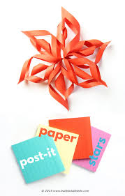 3d paper stars from post it notes babble dabble do