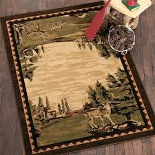 cabin rugs wonderful area amazing log deer rug rustic western intended for popular canada bath 8x10 cabin rugs